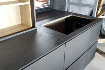 Kitchen Laminam Anthracite